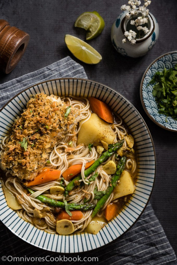 Oven-Fried-Fish-Curry-Noodle-Soup
