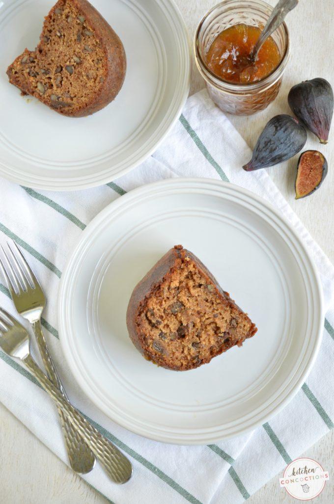 Spiced Fig Preserve Cake