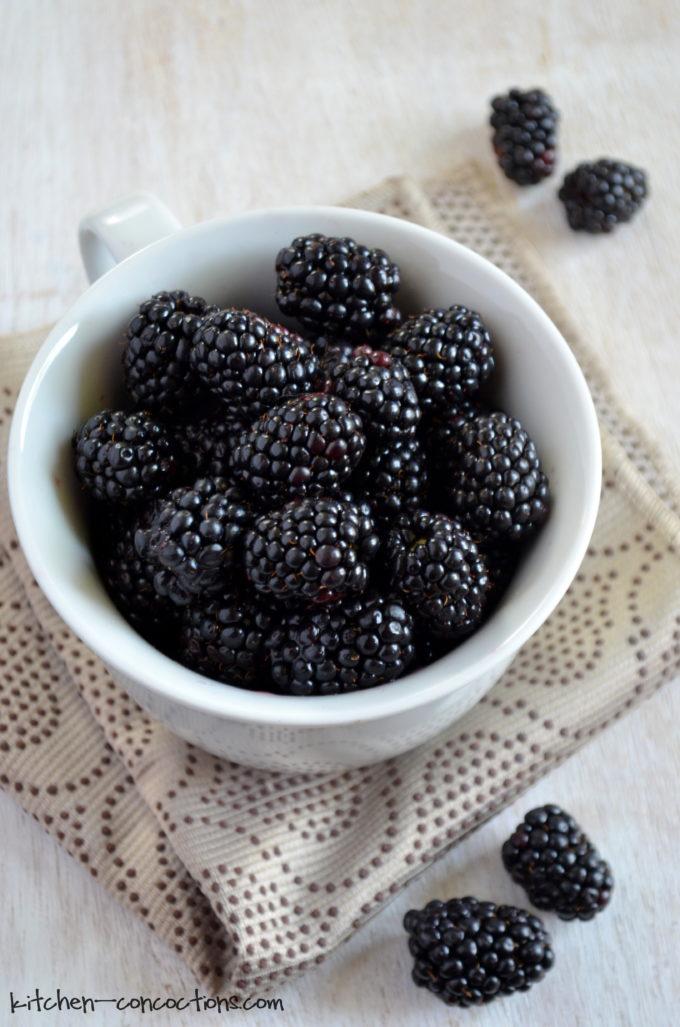 Blackberry Cobbler in a Mug