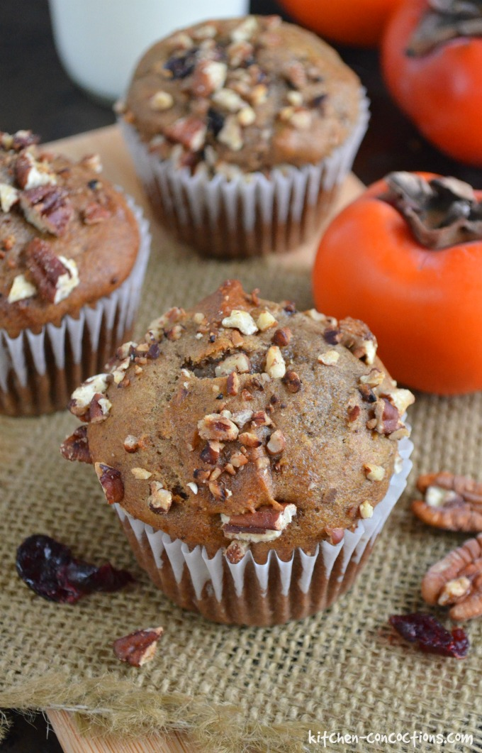 Spiced Persimmon Muffins