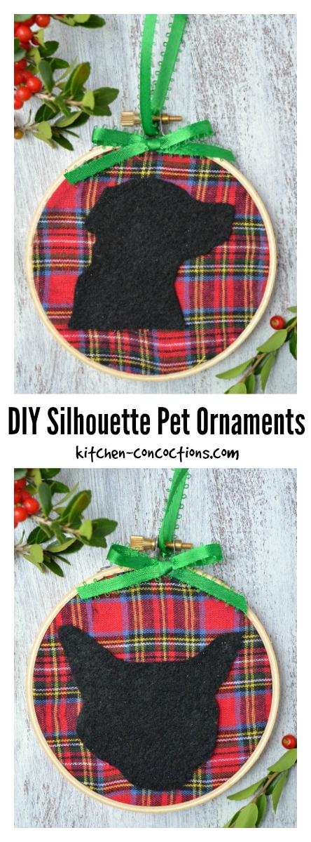 DIY Silhouette Pet Ornaments
