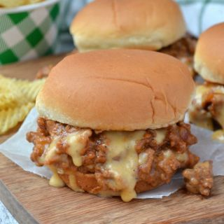 Cheesy Beer and Bacon Sloppy Joe Sliders