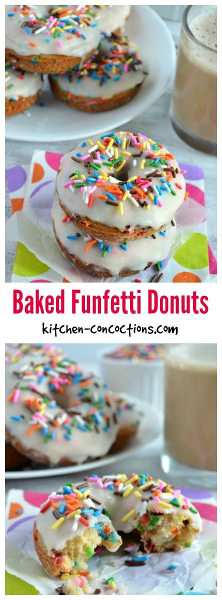 Baked Funfetti Donuts