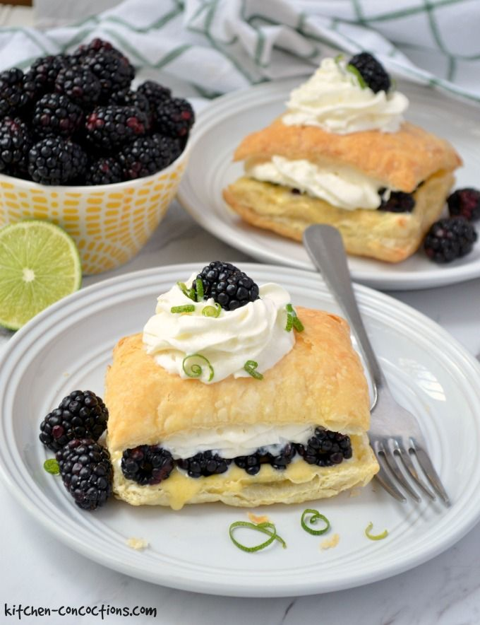 Blackberry Lime Napoleon Recipe