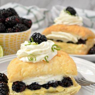 Blackberry Lime Napoleon Recipe