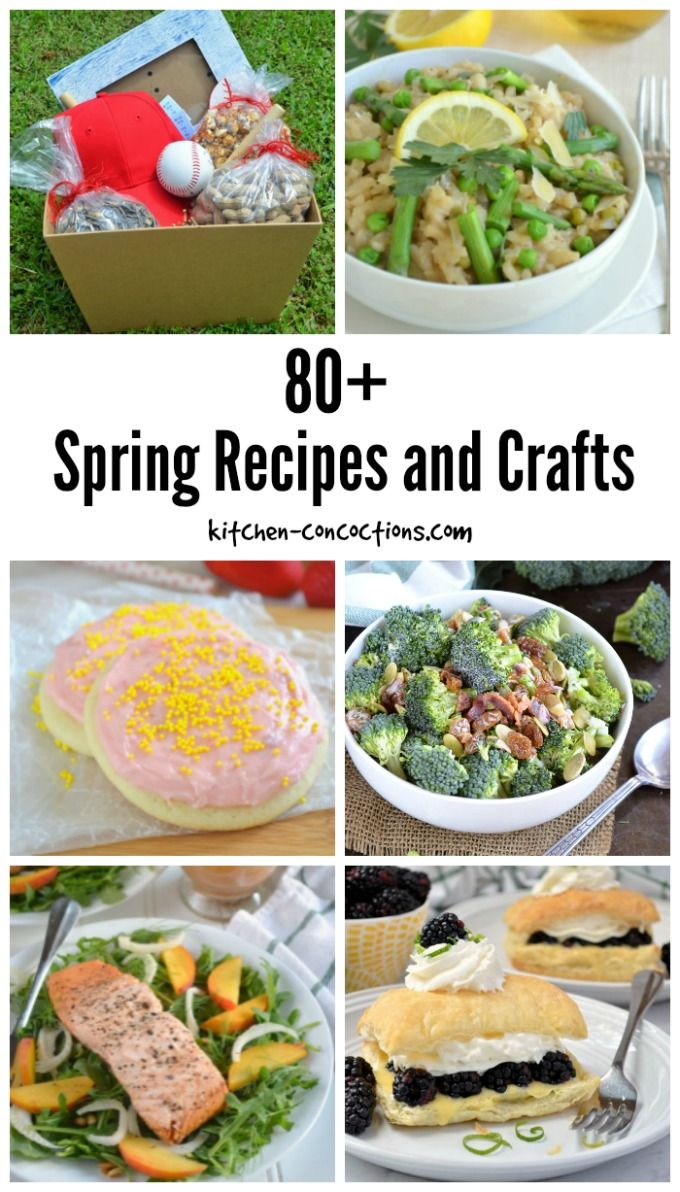 80+ Spring Inspired Recipes and Crafts