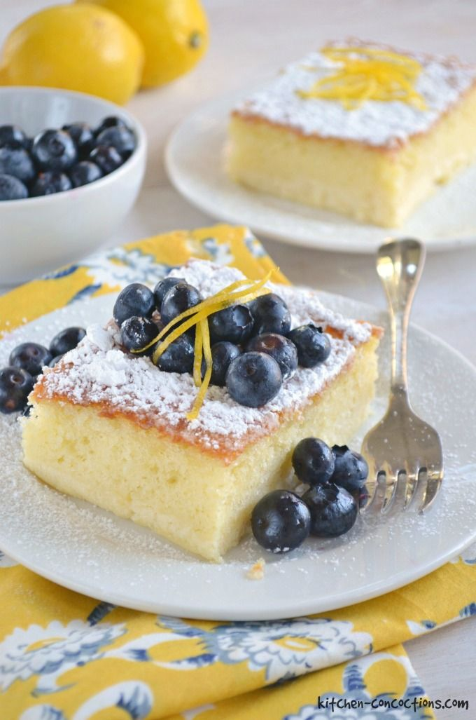 Lemon Ricotta Cake with Blueberries Kitchen Concoctions