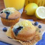 Lemon Ricotta Blueberry Muffins