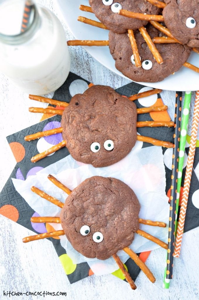 Chocolate Spider Cookies