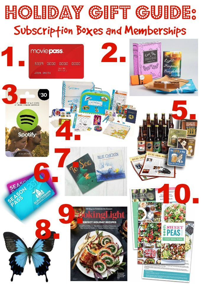 Holiday Gift Guide: Subscription Boxes and Memberships