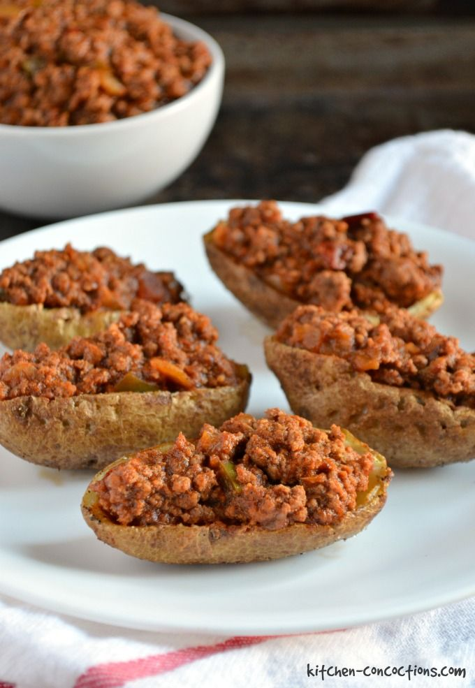Chili Loaded Potato Skins