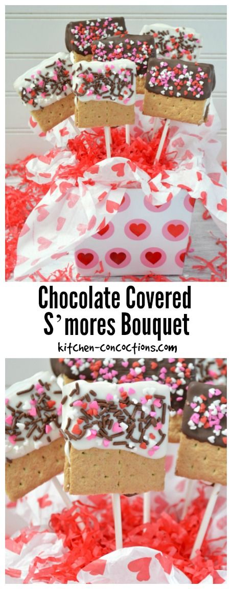 Chocolate Covered S'mores Bouquet {Valentine's Day Gift Idea}