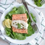 Oven Baked Salmon with Lemon Caper Sauce