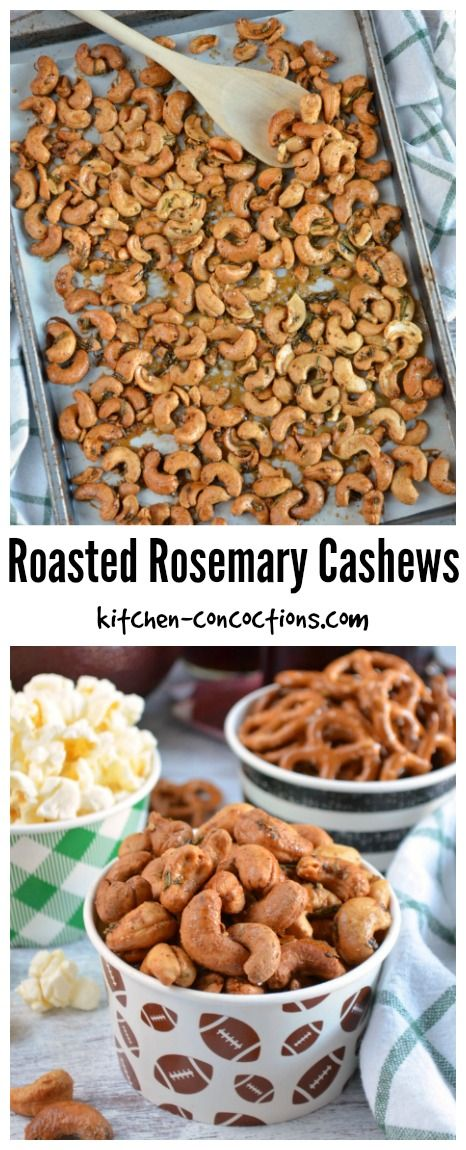 Roasted Rosemary Cashews