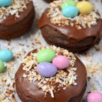 Chocolate Bird's Nest Donuts an Easter recipe from Kitchen Concoctions