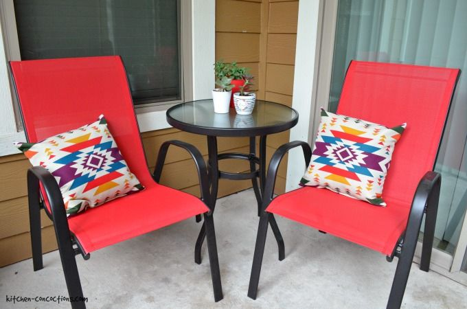 Merveilleux Small Patio Decorating Ideas On A Budget
