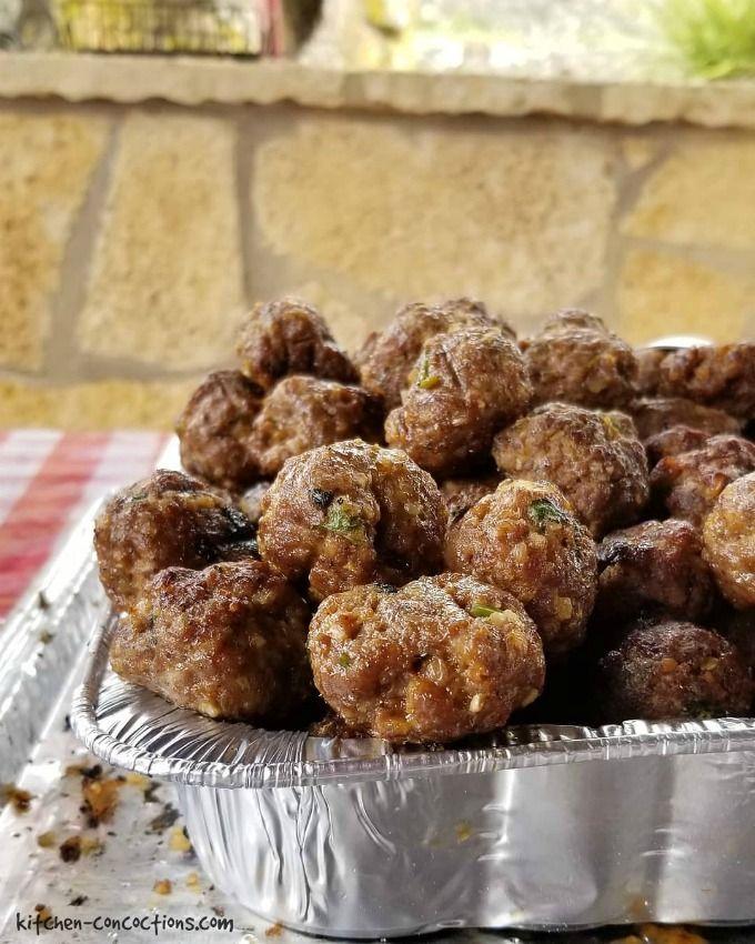 Grilled Lamb Meatballs