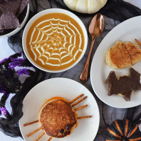 Halloween Grilled Cheese Sandwiches