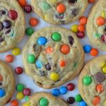 close up image of The Best M&M's Cookie Recipe