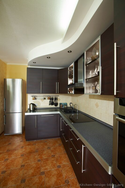 Pictures Of Kitchens Modern Dark Wood Kitchens Page 2