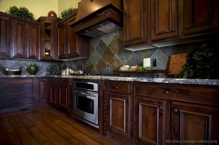 Cherry Wood Kitchen Kitchens Traditional Dark