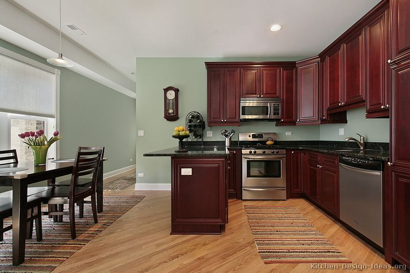 Wall colors for small kitchens with white cabinets. alluring ...