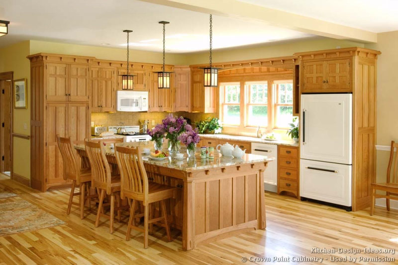 Mission Style Kitchens   Designs and Photos Mission Style Kitchen Cabinets by Crown Point