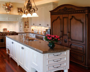 Antique kitchen designs kitchen designs for Kitchen cabinets that look like furniture