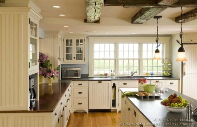 White Country Kitchen Designs Ideas