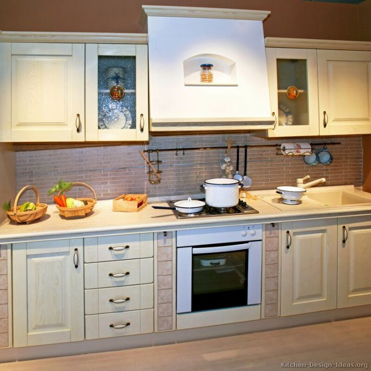 Kitchens Traditional Whitewashed Cabinets Kitchen
