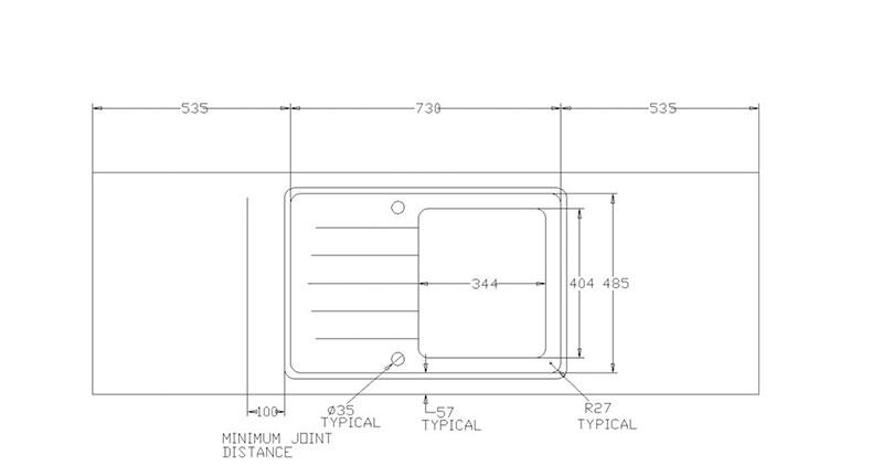 Maia Solid Surface Kitchen Worktops