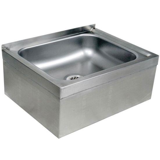 global mps252110 25 stainless steel floor mop sink 6 bowl