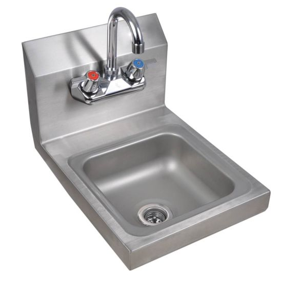 prepline phs12 12 hand sink wall mount with faucet nsf
