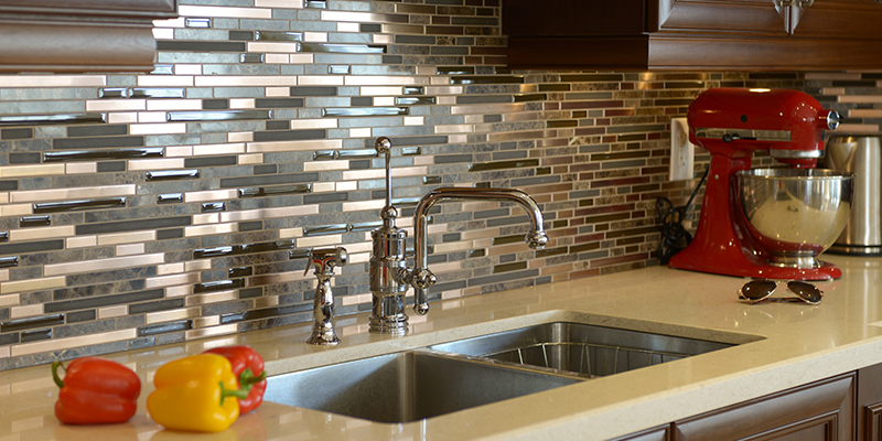 to match your backsplash to your countertop