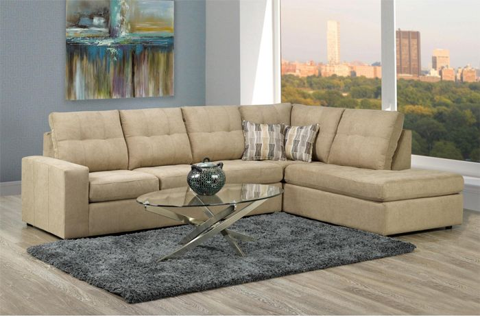 canadian modern tufted sectional sf16 9883 coral