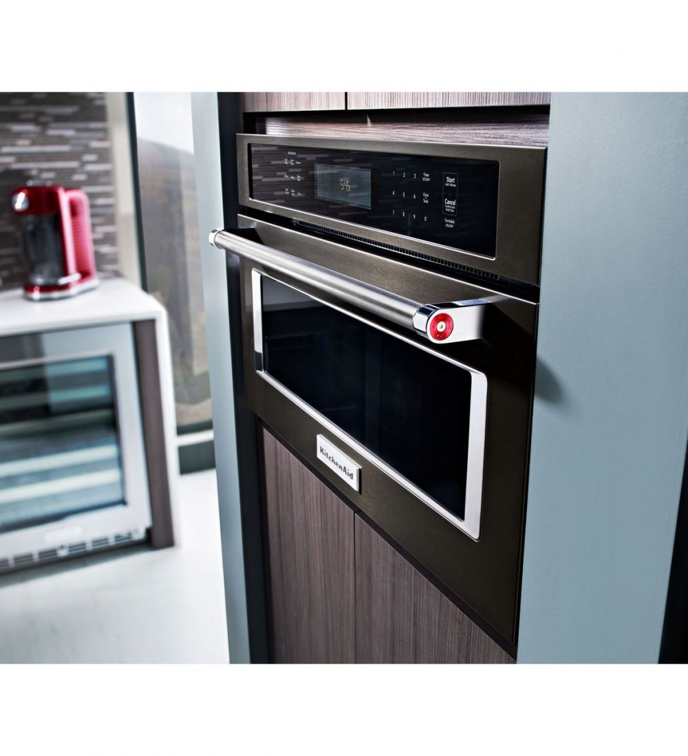 kitchenaid kmbp100ebs 30 built in microwave oven with convection