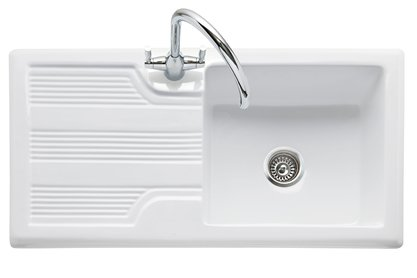 Colorado 100 White Ceramic Inset Sink with Drainer CO100 - Kitchen Art 2