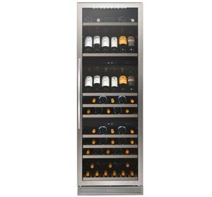 Freestanding 3 Zone Wine Cabinet H 1760mm