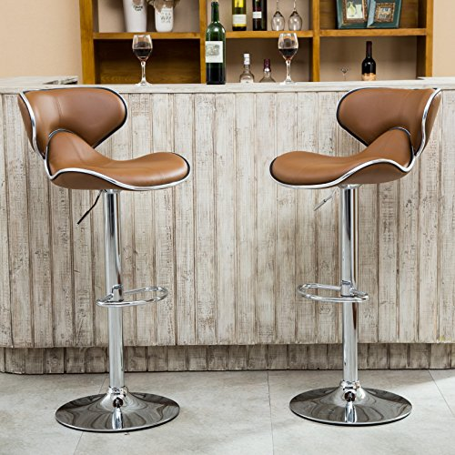 Roundhill Furniture Masaccio Cushioned Leatherette Upholstery Airlift Adjustable Swivel Barstool with Chrome Base Set of & Leopard Adjustable Leather Bar Stools Square Back Leather Padded ... islam-shia.org