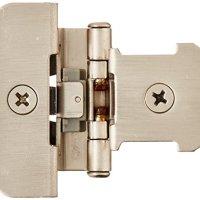 Amerock BP8701G10 Double Demountable Hinge with 1/4in(6mm) Overlay - Satin Nickel