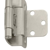 Amerock BPR7565G10 Self-Closing, Partial Wrap Hinge with 3/8in(10mm) Inset - Satin Nickel