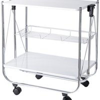 Torre & Tagus 950108A Apex Folding Serving Cart, White