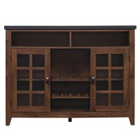 Bell'O KI10289-48-PI04 The Host Kitchen Island with Granite Top, Antique Pine