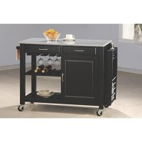 Coaster Home Furnishings 5870 Transitional Ktichen Cart, Black