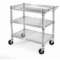 Seville Classics Home Kitchen Storage Heavy-Duty Utility Cart