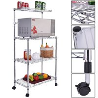 Eight24hours 3 - Tier Kitchen Baker's Rack Microwave Oven Stand Storage Cart Workstation Shelf