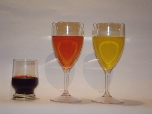 "The three solutions for ""water into wine"""