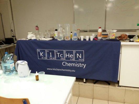 Setup for Kitchen Chemistry in Collège Jacques Prévert