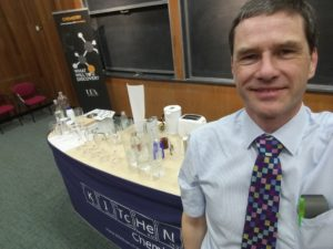 Ready to talk to the competitors at the Salters' Festival of Chemistry