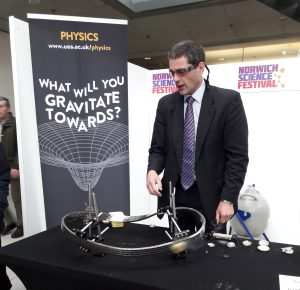 Playing superconducting trains at Norwich Science Festival 2017